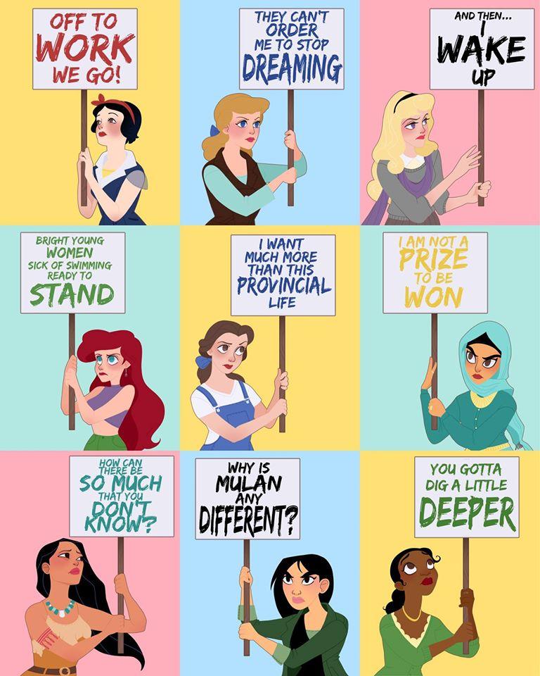 Rewolucyjne Kobiety Z Bajek Disneya Te Ilustracje Musisz Zobaczyć