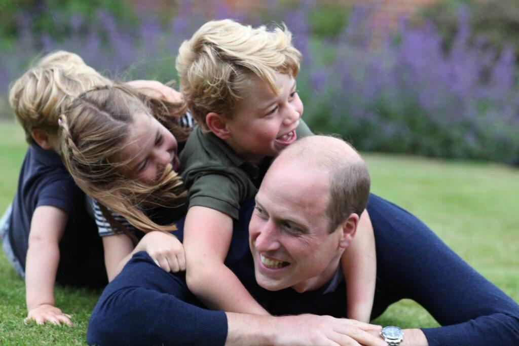 Książę William z dziećmi