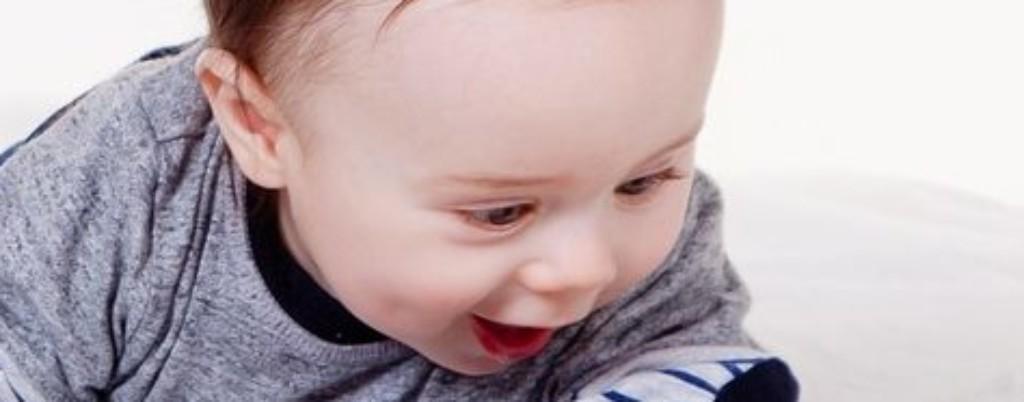 Mały chłopiec przegląda książeczkę / Ilustracja do tekstu: Kiedy wybrać się z dzieckiem do logopedy?