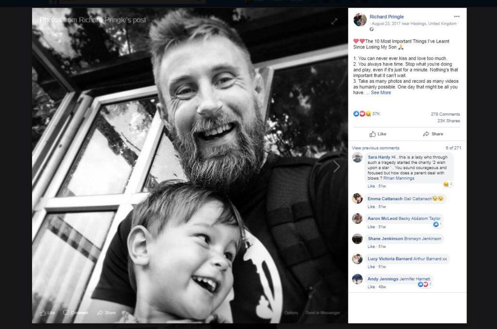 10 rzeczy, których nauczyłem się po Twojej śmierci - wzruszający post brytyjskiego taty
