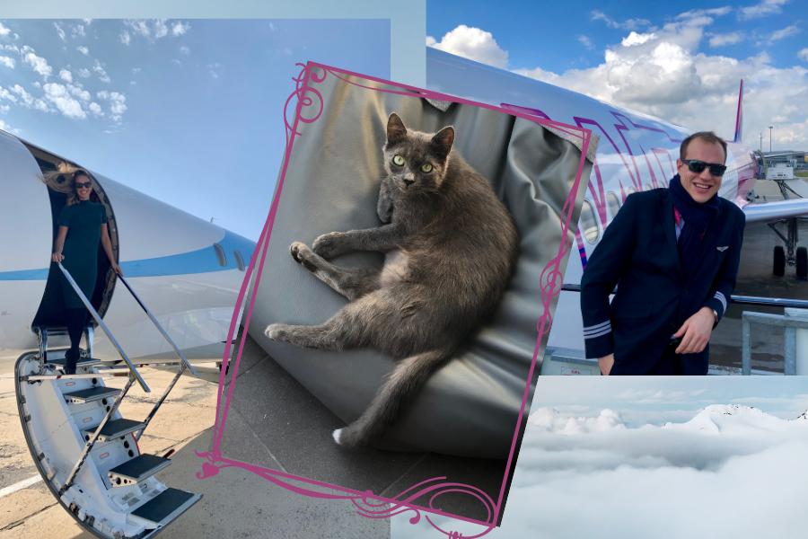 Stewardessa, pilot i kot - wywiad z Dominiką i Filipem Kocurami